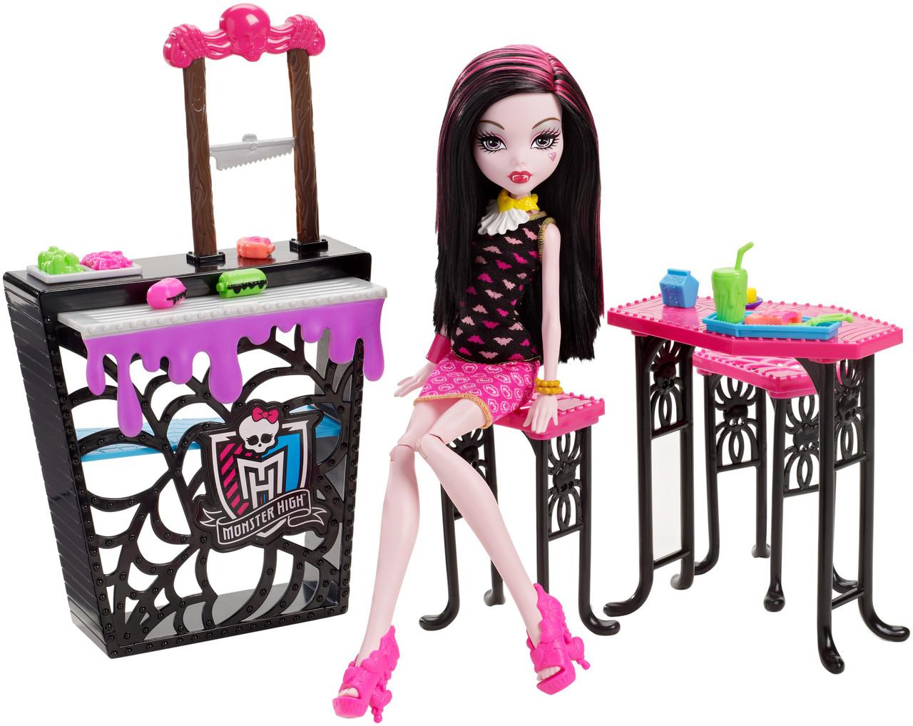 П, Monster High Beast Bites Cafe Draculaura Doll & Playset Игровой набор Дракулаура и Кафе Крипатерия