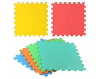 Коврик-мат M 2095 ЕВА, 6 квадратов, размер 51,5-51,5 см, толщина 0,8 см, 6 цветов в 1 упаковке, в пленке