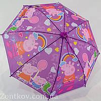 """Детский зонтик трость с изображением свинки """"Пеппа"""" от фирмы """"Sunn Rain"""""""