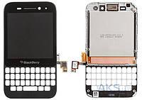 Дисплей (экран) для телефона Blackberry Q5 + Touchscreen with Frame Original Black