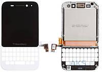 Дисплей (экран) для телефона Blackberry Q5 + Touchscreen with Frame Original White