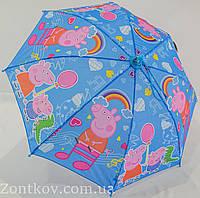 """Детский зонтик трость с изображением свинки """"Пеппа"""" от фирмы """"Rainproof"""", фото 1"""
