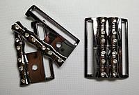 7704 Пряжка декоративная 4 см (черный)