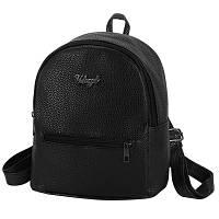 Рюкзак женский молодежный из эко кожи (черный), фото 1