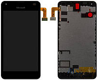 Дисплей (экран) для телефона Microsoft (Nokia) Lumia 550 + Touchscreen with frame Original Black