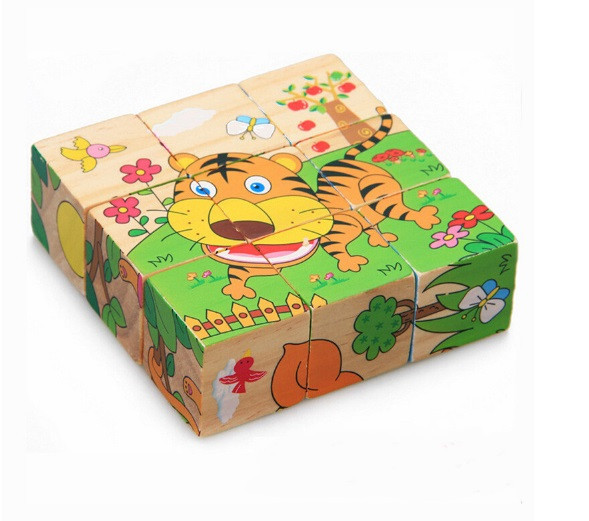 "Кубики ""Животные Африки"", 6 рисунков, 0179"