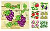 """Деревянные кубики """"Фрукты"""" / Деревяні кубики """"Фрукти"""" -  6 рисунков К, фото 2"""