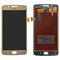 Дисплей (экран) для телефона Motorola Moto G5 XT1676 + Touchscreen Original Gold