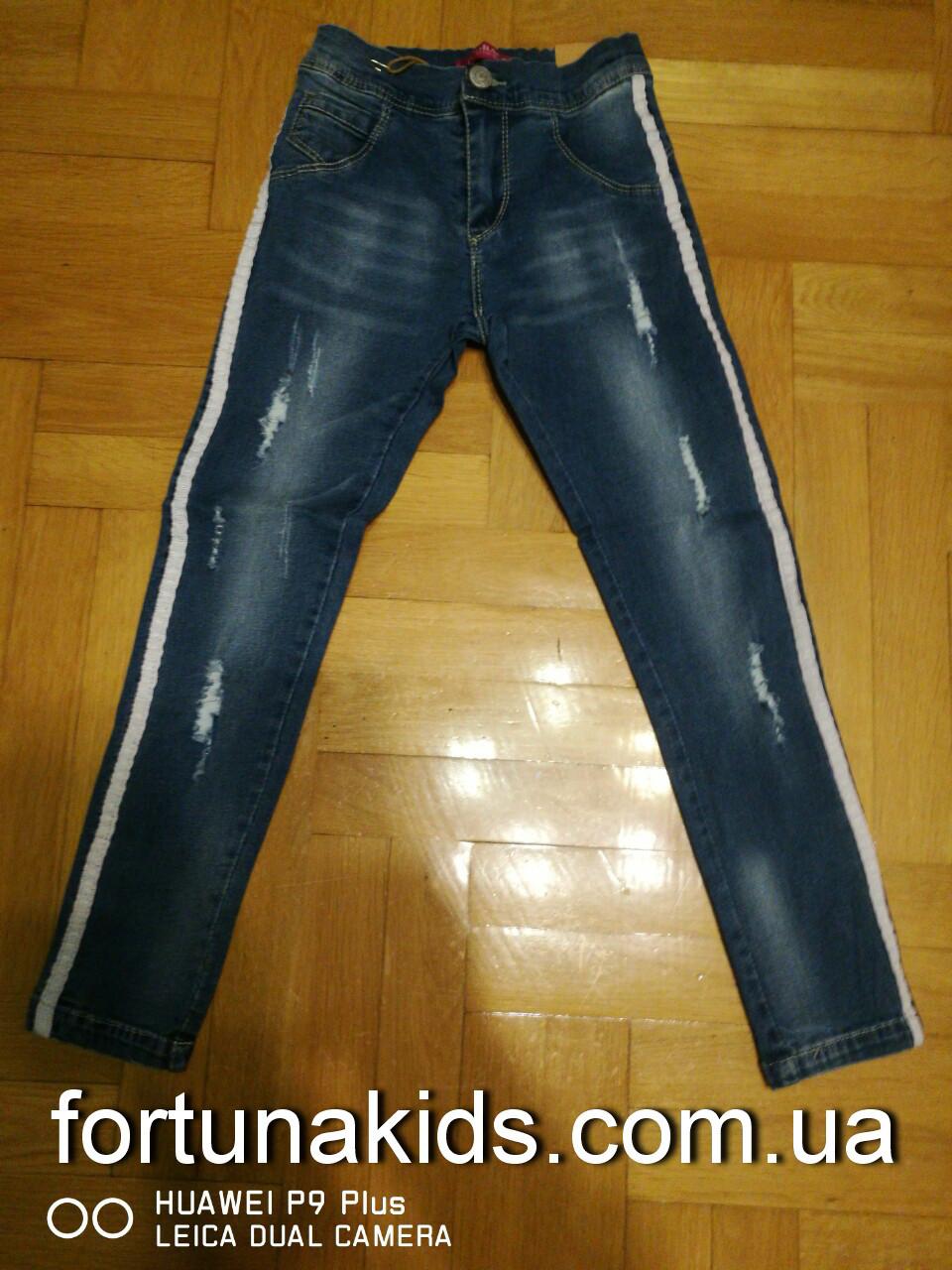 Джинсовые брюки для девочек  GRACE 116-146 р.р.