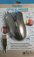 Компьютерная мышка Perfeo PF-12-OP «VICTORY» серая,красная