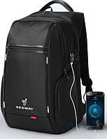"""Рюкзак Segway K9004W-A 15.6"""" +USB интерфейс Black"""