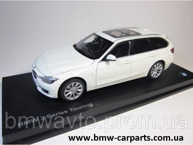 Модель автомобіля BMW 3 Series Touring (F31), Miniature White, Scale 1:18, фото 3