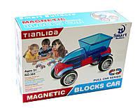 Конструктор Smart Транспорт на магнитах 383, Магнитный Конструктор Машинка 384