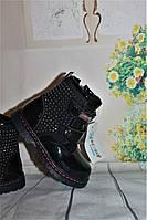 Детские весенние ботинки  для девочек 22-27 размеры
