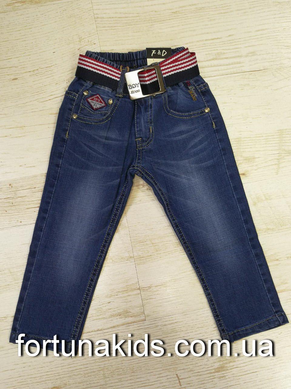Джинсовые брюки для мальчиков F&D 74-104 р.р.