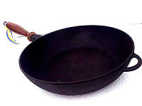 Сковородка чугунная с деревянной ручкой 280х60мм «Ситон»