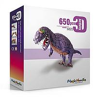 Детский Развивающий Конструктор Динозавр 5825 Magic Nuudles 650 деталей, Мягкий конструктор динозавр для детей