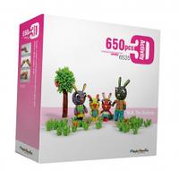 Детский Развивающий Конструктор Magic Nuudles 6535 Животные 650 деталей, Мягкий конструктор Животные для детей
