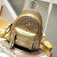 НовинкаЖенский рюкзак с блестками и заклёпками Женский рюкзак с блестками и заклёпками, фото 1