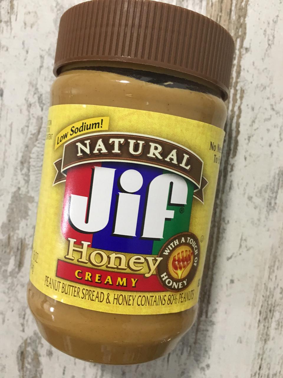 Кремовая арахисовая паста c медом JIF, 454грамм