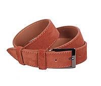 Замшевый ремень мужской коричневый 3,3 см Leather Collection ZM-5476325