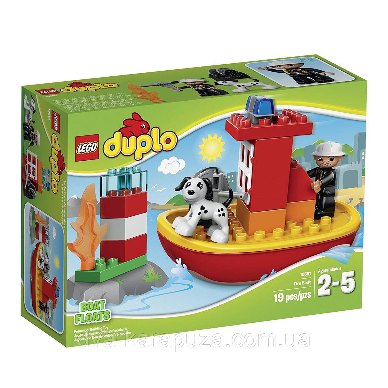 832c0d432ab Конструктор Lego Duplo Town 10591 Fire Boat Building Kit! Оригинал!, фото 1