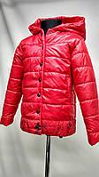 """Куртка детская """"Маус"""" красного цвета для девочек от 2 до 7лет( 98-128 рост)"""