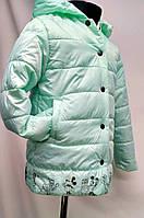 """Куртка детская """"Маус"""" цвет мята для девочек от 2 до 7лет( 98-128 рост)"""