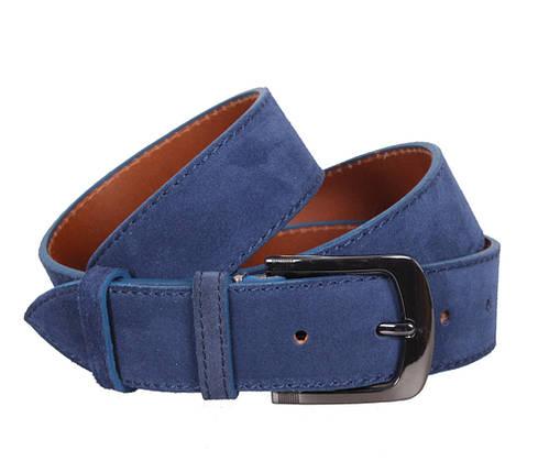 Ремень замша синий мужской ремни мужские для джинс вранглер