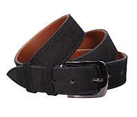 Замшевый мужской ремень под джинсы черный 4 см Leather Collection ZM-5476312