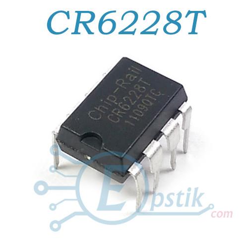 CR6228T, ШИМ контроллер 21W 50KHz, DIP8