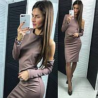 Женское красивое приталенное платье (расцветки), фото 1