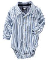Боди-рубашка с длинным рукавом OshKosh B'gosh для мальчика