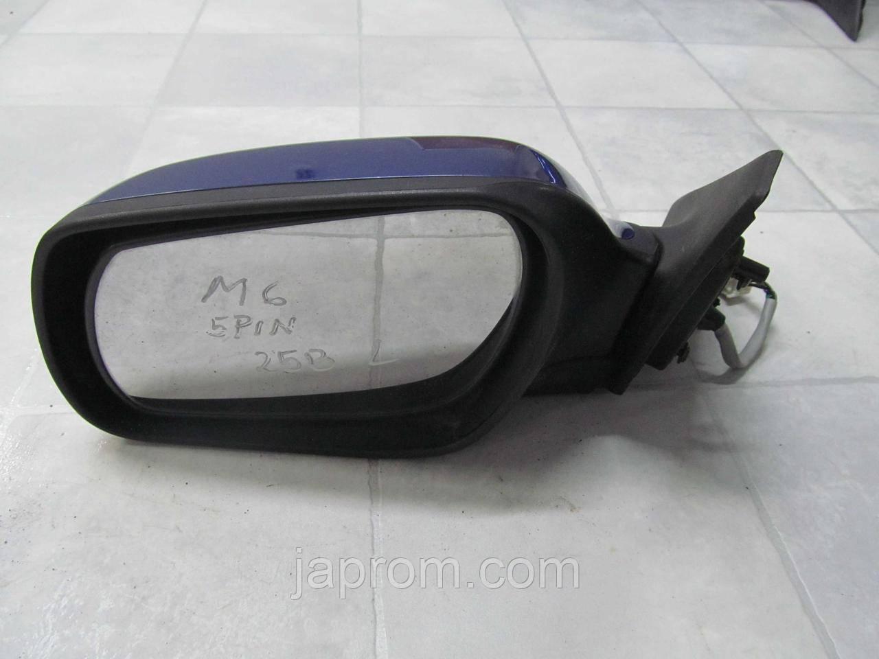 Зеркало заднего вида левое Mazda 6 GG 2002-2007г.в 4/5дв. синие