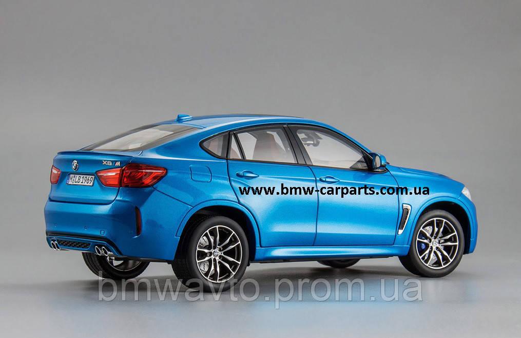 Модель BMW X6M (F86), Scale 1:18, Long Beach Blue Metallic