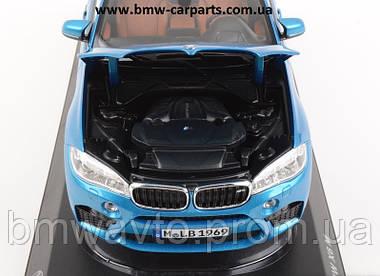 Модель BMW X6M (F86), Scale 1:18, Long Beach Blue Metallic, фото 3