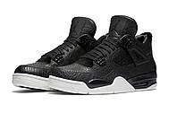 Баскетбольные кроссовки Nike Air Jordan Retro IV 4 Pinnacle Premium Black, фото 1