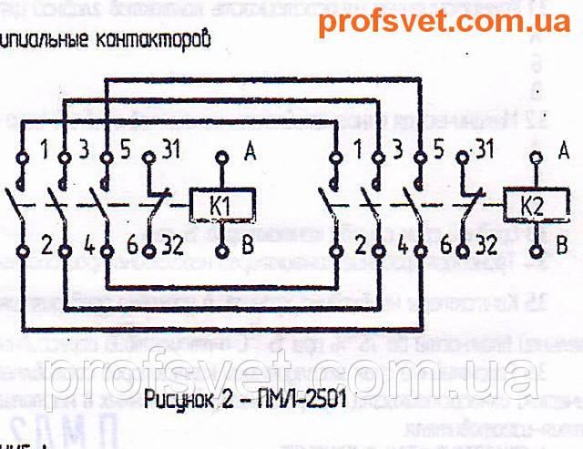 сканирование электрическая схема подключения пмл-2501 реверс