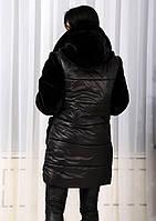"""Женское зимнее пальто на змейке с мехом мутон """"Queen"""""""