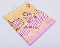 Сменная детская постель Asik Слоник с зонтиком розового цвета 3 предмета (3-200)