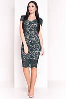 Женское зеленое платье ЛУК 4105 Modus  42-48 размер