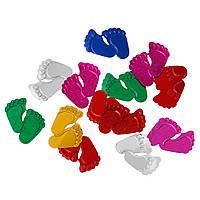"Подвеска "" Ножки "", Пластик, Разные цвета, 18 мм x 16 мм, Цена за 1 грамм"