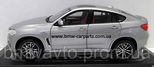 Модель BMW X6M (F86), Scale 1:18, Donington Grey, фото 2