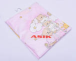 Сменная постель «Мишки на лестнице» розового цвета, №39