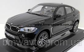 Модель BMW X6M (F86), Scale 1:18, Black Sapphire