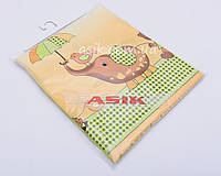 Сменная детская постель Asik Слоник с зонтиком салатового цвета 3 предмета (3-198)