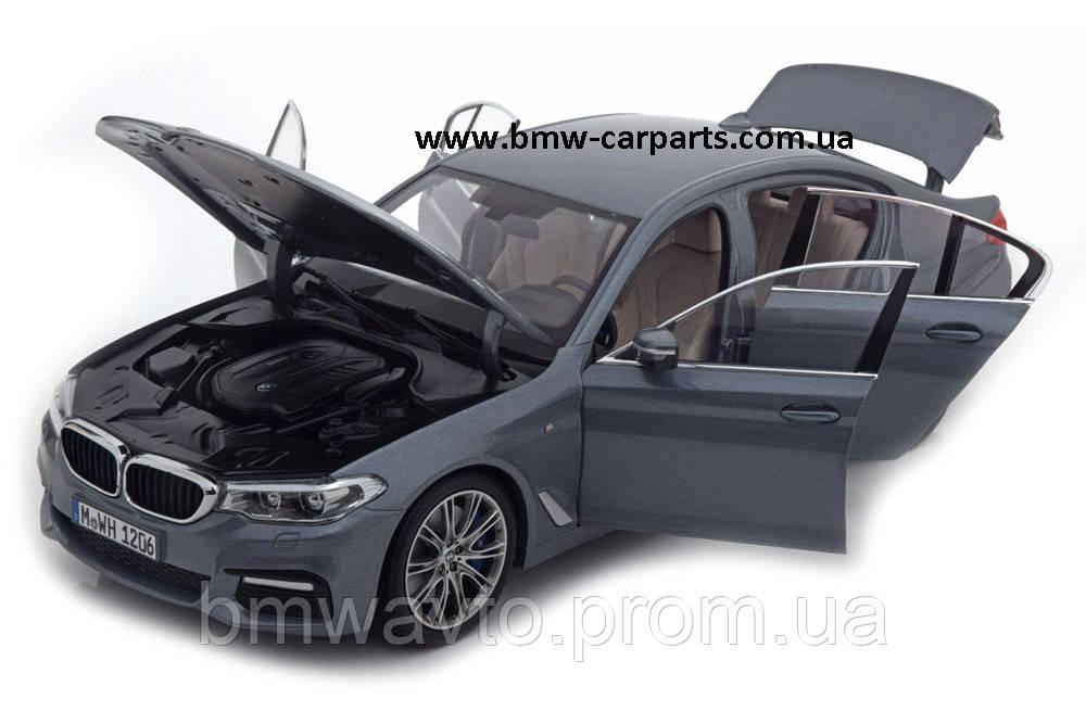 Модель автомобиля BMW 530i Limousine (G30), 1:18 Scale, Bluestone Metallic