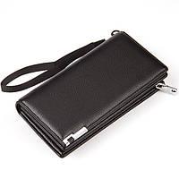 Большие мужские кошелеки Baellerry. Черный и коричневый цвет., фото 1