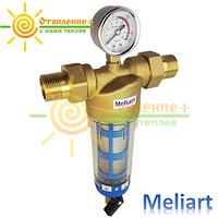 Фильтр для холодной воды промывной Meliart 3/4 (с манометром)