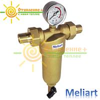 Фильтр для горячей воды промывной Meliart 1/2 (с манометром)